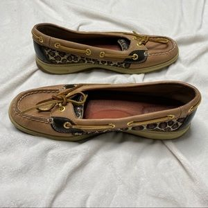 Leopard Sparkle Sperry Top Sider Shoes